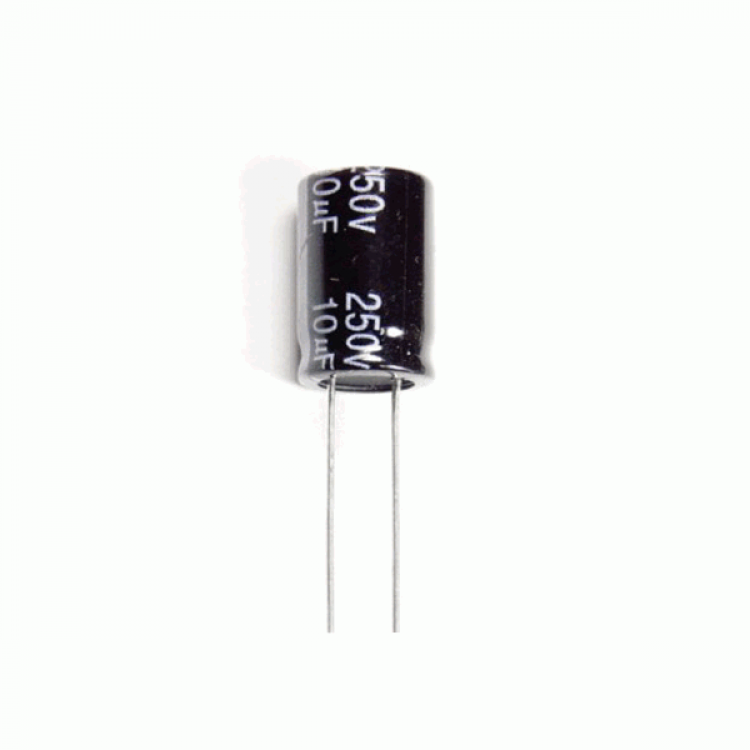 10uF 250V Radial Electrolytic Capacitor
