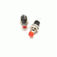 2 Pin Momentary Push Button SPST Switch Red