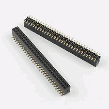 1.27mm Female 2x30 Pin  SMT Pin Header