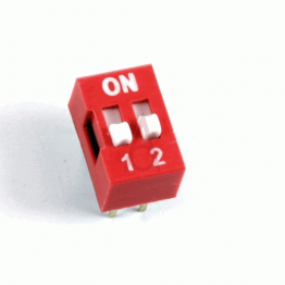 DIP Switch 2 Position Red Color