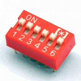 DIP Switch – 6 Position Red Color