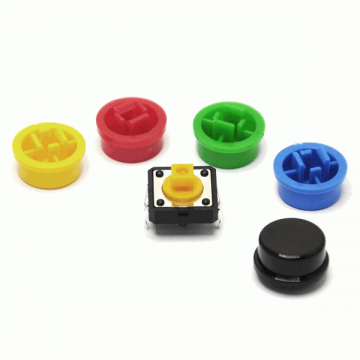 Multi Colors Cap For Tactile Push Switch