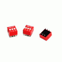 3 Position DIP Switch 2.54mm Pitch