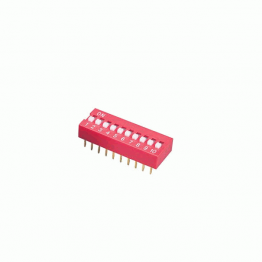 DIP Switch 10 Position Red Color